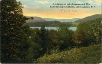 Image of A Glimpse of Lake Luzerne and The Surrounding Mountains, Lake Luzerne - Postcard