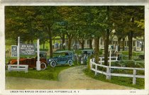 Image of Under the Maples on Echo Lake, Pottersville, N.Y. - Postcard