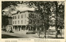 Image of Wells House, Pottersville, N.Y. Special Dinners. On Trunk Line between New York and Montreal. - Postcard