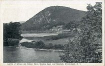 Image of Junction of Schroon and Hudson Rivers, Showing Loaf Mountain, Warrensburgh, N.Y. - Postcard