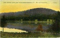 Image of View Across Echo Lake Near Warrensburgh, N.Y., The Adirondacks - Postcard