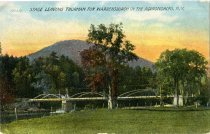 Image of Stage Leaving Thurman For Warrensburgh In The Adirondacks, N.Y. - Postcard