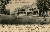 Image of Greetings from the Adirondacks. Windsor Hotel. Elizabethtown, N.Y. - Postcard