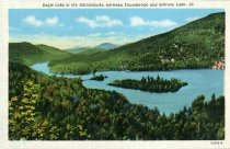 Image of Eagle Lake in the Adirondacks, between Ticonderoga and Schroon Lake - Postcard