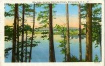 Image of Echo Lake, showing Echo Lake Tavern, Warrensburg, N.Y. - Postcard