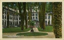 Image of Interior Court, United States Hotel. Saratoga Springs, N.Y. - Postcard