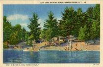 Image of Echo Lake Bathing Beach, Warrensburg, N.Y. - Postcard