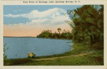 Image of East Shore of Saratoga Lake, Saratoga Springs, N.Y. - Postcard