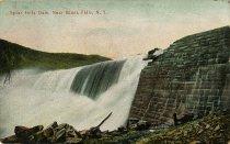 Image of Spier Falls Dam, Near Glens Falls, N.Y. - Postcard