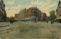 Image of Main & Fulton Streets, Gloversville, N.Y. - Postcard
