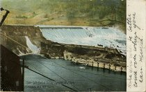 Image of Spier Falls Before Entire Completion of Dam, Adirondack Mts, N.Y. - Postcard