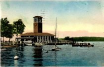 Image of Miller Memorial Bell Town and Pier Club - Postcard