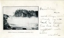 Image of Great Falls On The Husdon, Corinth, N.Y. - Postcard
