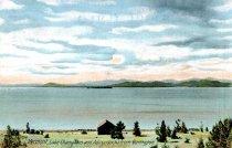 Image of Vermont, Lake Champlain and Adirondacks from Burlington - Postcard