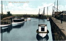 Image of Wilcox Wharf, Plattsburgh, N.Y. - Postcard