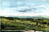 Image of Vermont, Lake Champlain and Adirondacks from Belleview - Postcard