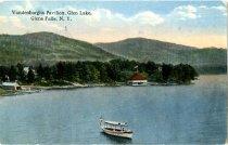 Image of Vandenburghs Pavilion, Glen Lake, Glens Falls, N.Y. - Postcard
