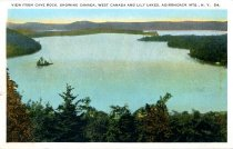 Image of View From Cave Rock, Showing Canada, West Canada and Lily Lakes, Adirondack Mts.  - Postcard