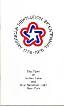 Image of American Revolution Bicentennial, 1776-1976: The Town of Indian Lake and Blue Mountain Lake New York  -
