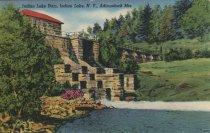 Image of Indian Lake Dame, Indian Lake, N.Y., Adirondack Mts. - Postcard