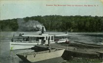 Image of Steamer Big Moose and Dock at Glenmore, Big Moose, N.Y. - Postcard