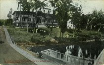 Image of Glenmore Hotel and Cottages, Big Moose Lake Adirondack Mts., N.Y. - Postcard
