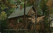 Image of A Cottage at Lake View Lodge, Big Moose Lake, N.Y. - Postcard