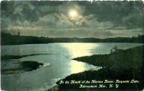 Image of At the Mouth of the Marion River, Raquette Lake, Adirondack Mts., N.Y. - Postcard