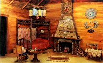 Image of Interior Camp Cedars, Forked Lake, N.Y. - Postcard