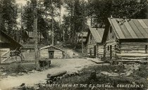 Image of A Pretty View at the E.L. Co's Mill, Conifers, N.Y. - Print, Real Photo Postcard
