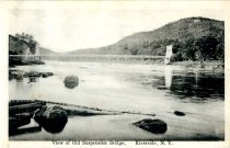 Image of View of Old Suspension Bridge, Riverside, N.Y. - Postcard