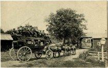 """Image of Lake George, """"Tally-ho"""" at Half-way House - Postcard"""