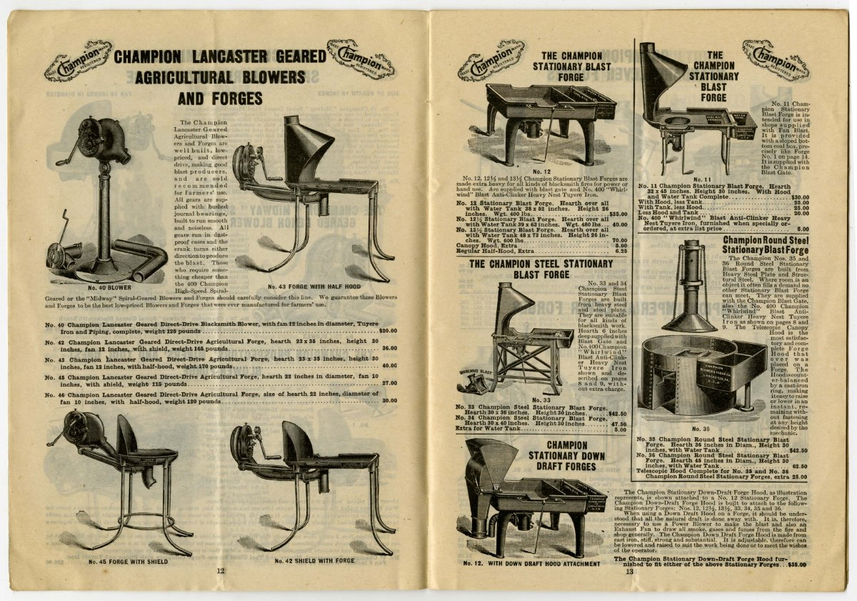 1912 Catalog] - Champion Blower & Forge Co