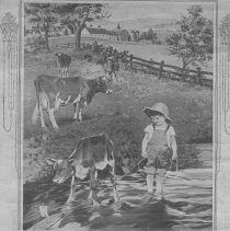 Image of Compliments of Mack Scott, General Merchant, Eden Grove calendar