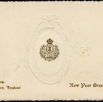 Image of Front, 160th Sergeants' Mess New Years card
