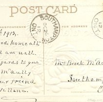 Image of A cordial Thanksgiving greeting, postcard back