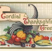 Image of A cordial Thanksgiving greeting, postcard front