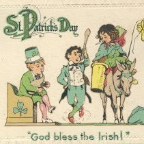 Image of St. Patrick's Day : God Bless the Irish! postcard front