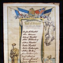 Image of A2003.040.002 - Roll of Honour, For King and Empire with Canadian Expeditionary Force