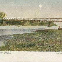 Image of Saugeen River Bridge post card