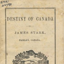 Image of Destiny of Canada poem by James Stark, front cover