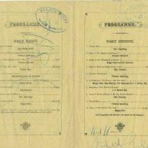 Image of Paisley Caledonian Society Scottish-Canadian Concert programme, 1885 - insi