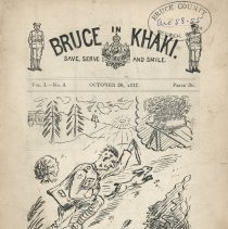 Image of Bruce in Khaki, Vol. 1, No. 3, Oct. 26, 1917, cover page