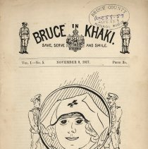 Image of Bruce in Khaki, Vol. 1, No. 5, Nov. 9, 1917, front cover