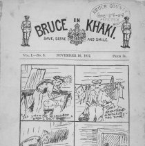 Image of Bruce in Khaki, Vol. 1, no. 6. Nov. 156, 1917 cover page