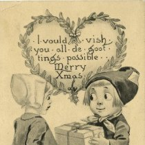 Image of Christmas post card to Mrs. Brock Macaulay 1912
