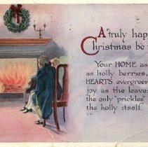 Image of Christmas post card to Brock Macaulay 1914
