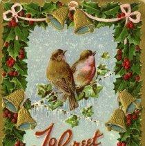 Image of Christmas post card to Mrs. Brock Macaulay 1908