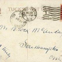 Image of Christmas post card 1915 to Brock MacAulay (back)