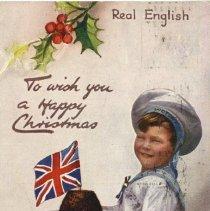 Image of Christmas post card 1915 to Brock MacAulay